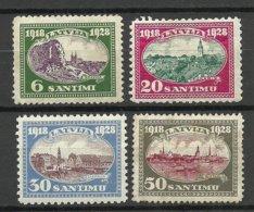 LETTLAND Latvia 1928 = 4 Values From Set Michel 132 - 137 * - Lettland