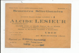 CARTE PUBLICITAIRE Pour Semences Selectionnées  LESIEUR ALCIDE    VRED ( 59 ) - 2. Semi