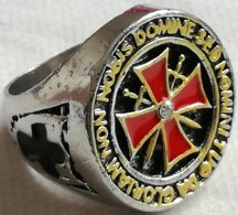 Anillo Templarios. Cruzadas. Talla 12 - Militares