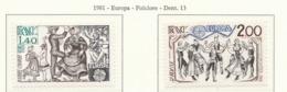 PIA  -  FRANCIA  -  1981  :  Europa - Folclore (YV  2138-39) - 1981