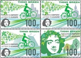 Russia. Peterspost. Think Green. Europa. Set Of 4 Perforated Stamps, Face Value Price! - Europa-CEPT