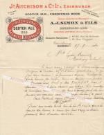 Bier - BIERE  - SCOTCH  ALE  EDINBURGH   -  A.J.  SIMON  &  FILS Brux.   - Dampremy  1910 - Belgique