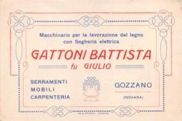 """5727 """"GATTONI BATTISTA FU GIULIO-MACCHINARIO PER LA LAVOR. DEL LEGNO CON SEGHERIA ELETTRICA-GOZZANO(NO)""""ORIG. - Visiting Cards"""