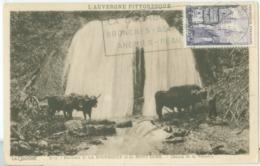 La Bourboule 1954; Cascade De La Vernière - Voyagé. (La Cigogne - Vichy) - La Bourboule