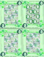 Russia. Peterspost. Think Green. Europa. Set Of 4 Sheetlets Of 4 Tet-beshes Each, Face Value Price! - Europa-CEPT
