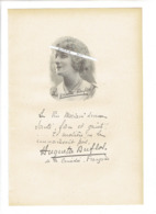 HUGUETTE DUFLOS 1887 LIMOGES 1982 PARIS ACTRICE FRANCAISE PORTRAIT GRAVE AUTOGRAPHE BIOGRAPHIE ALBUM MARIANI - Historische Documenten