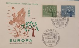 Germany FDC 1962 Europa - FDC: Sobres