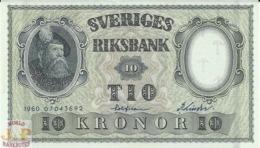 SWEDEN 10 KRONOR 1960 PICK 43h UNC - Svezia
