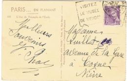 DAGUIN MUSEE DE MEUDON SUR CPA - Poststempel (Briefe)
