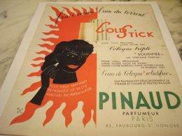 ANCIENNE  PUBLICITE COLD STICK DE PINAUD 1952 - Parfum & Cosmetica