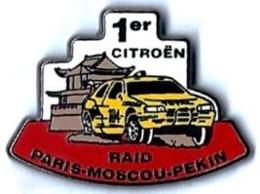 CITROEN - C47 - 1er CITROEN - RAID-PARIS-MOSCOU-PEKIN - Verso : STARPINS - Citroën