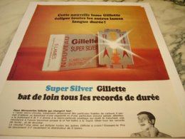 ANCIENNE PUBLICITE LAME GILLETTE  1966 - Parfum & Cosmetica
