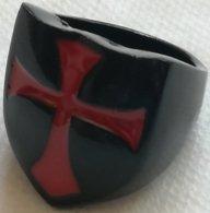 Anillo Cruz Templarios. Cruzadas. Talla 12 - Militares