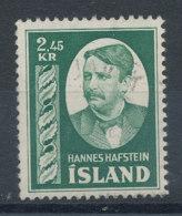 Islande   N°254 Hannes Hafstein - Usati