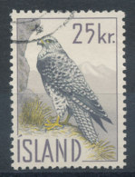 Islande   N°298  Oiseau - Faucon - Usati