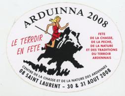AUTOCOLLANT : ARDUINNA 2008 - 08 SAINT LAURENT (CHASSE, NATURE, PECHE) (13X10 CM) - Autocollants