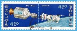 Polonia. Poland. 1975. Michel # 2377 / 2378. Apollo - Soyuz Space Proyect - 1944-.... República