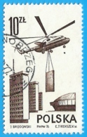 Polonia. Poland. 1976. Michel # 2438. Contemporary Aviation. Mi6 Transport Helicopter - 1944-.... República