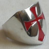 Anillo Cruz Templarios. Cruzadas. Talla 12. - Militares
