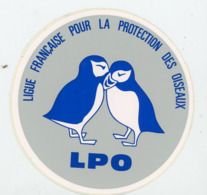 AUTOCOLLANT :  LIGUE FRANÇAISE POUR LA PROTECTION DES OISEAUX (10 CM) - Adesivi