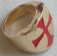 Anillo Cruz Templarios. Cruzadas. Talla 10 - Sin Clasificación