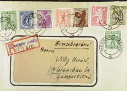 OPD: E-Fern-Brief Mit Satz Berliner Bär Mit Allen Werten 1AA Und 1AB Aus Merane -Aush-R-Ztl (410) 15.4.46;  Knr: 1/7 A - Zone Soviétique