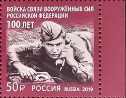 Russia, 2019, Mi. 2776, Russian Signal Troops, MNH - 1992-.... Federation
