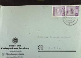 OPD: Fern-Brief Mit 6 Pf Ziffer Westsachsen Geschn. Im Senkr. Paar Aus Bernburg 20.11.45 Knr: 69 (2) - Zone Soviétique