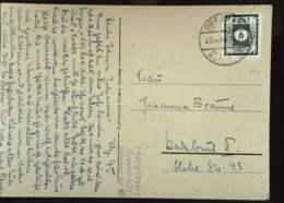 OPD: Fern-Karte Mit 6 Pf EF Durchst. OSt. Dresden Altst. 27 Vom 27.12.45, Bildseitig Blumenstrauß Knr: 43 B II B - Zone Soviétique