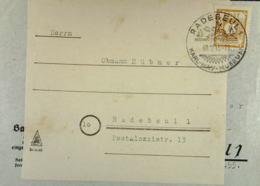 OPD: Orts-Brief Mit 8 Pf Ziffern Gez. SoSt. Radebeul Karl-May-Museum 8.12.45, Brf In 2. Verwendung -stockfleckig Knr: 59 - Zone Soviétique