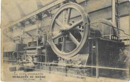 Exposition De Bruxelles 1910  - LA PLUS PUISSANTE DEMI-FIXE DU MONDE  1000 Chevaux ( Heinrich Lanz Mannheim ) 2 SCANS - Expositions Universelles