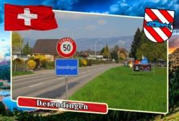 Postcard, REPRODUCTION, Municipalities Of Switzerland, Derendingen - Carte Geografiche