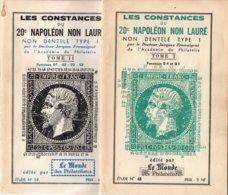 CONSTANCES DU 20 C. NAPOLEON NON LAURE - T I & II - Dr FROMAIGEAT (ref CAT106) - Manuali