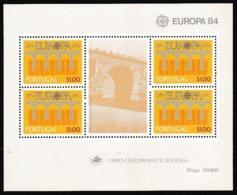 1984 Portogallo Portugal EUROPA CEPT EUROPE Foglietto MNH**  Souv. Sheet - Europa-CEPT