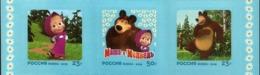 Russia, 2019, Mi. 2778-80, Heroes Of Russian Cartoons, Self-adhesive - Unused Stamps