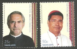 East Timor 2008 - 1996 Peace Nobel Prize - Ramos Horta / D. Ximenes Belo Set MNH - Timor Orientale