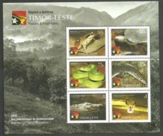 East Timor 2010 - Reptiles & Amphibians, International Year Biodiversity S/S MNH - Timor Orientale