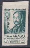 Algérie N° 267 Nd XX Journée Du Timbre : Arago ; Variété : Non Dentelé, Sans Charnière, TB - Ongebruikt