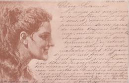 ILLUSTRATEUR ITALIE V.JERACE ART NOUVEAU FEMME 1900 CPA BON ÉTAT - Illustratori & Fotografie