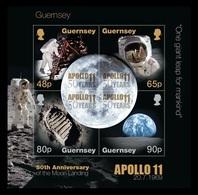 Guernsey 2019 Mih. 1737/40 (Bl.94) Space. Apollo 11. Moon Landing MNH ** - Guernsey