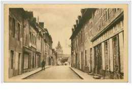 23.BENEVENT L'ABBAYE.RUE DU MARCHE ET L'EGLISE.PHARMACIE - France
