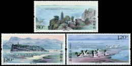 China 2019-15 Poyang Lake MNH Mountain Island Bird Transport Boat - 1949 - ... Repubblica Popolare