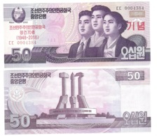 Korea North - 50 Won 2018 UNC Comm. Lemberg-Zp - Korea (Nord-)