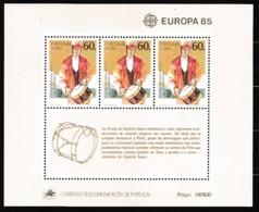 1985 Portogallo Azzorre Portugal Azores EUROPA CEPT EUROPE Foglietto MNH** Souv. Sheet - Europa-CEPT