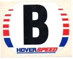 Sticker Autocollant Hover Speed Boot Bateau Boat Ship Schiff Reclame Publicity Publiciteit - Boten