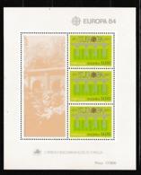 1984 Portogallo Madeira Portugal EUROPA CEPT EUROPE Foglietto MNH**  Souv. Sheet - Europa-CEPT