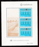 1984 Portogallo Azzorre Portugal Azores EUROPA CEPT EUROPE Foglietto MNH** Souv. Sheet - Europa-CEPT