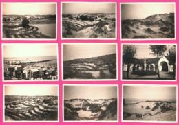Lot De 14 Photo - Knokke - Oude Straat 30's - Plage - Dune - Eglise - Animée - 1932 - Lieux