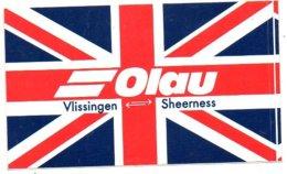 Sticker Autocollant Olau Vlissingen Sheerness  Boot Bateau Boat Ship Schiff Reclame Publicity Publiciteit - Boten