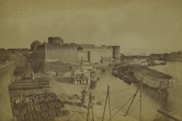 France Bretagne Brest Le Château Et La Peufeld Port Ancienne Photo 1890 - Antiche (ante 1900)